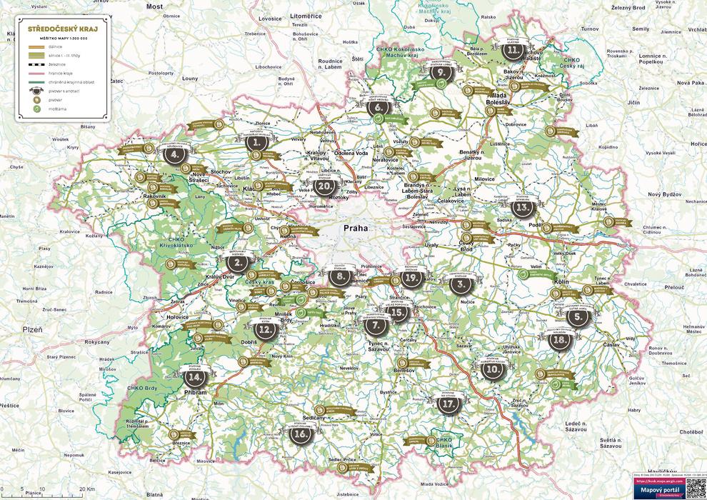 Nova Mapa Rozhleden Ve Stredoceskem Kraji Mistni Kultura